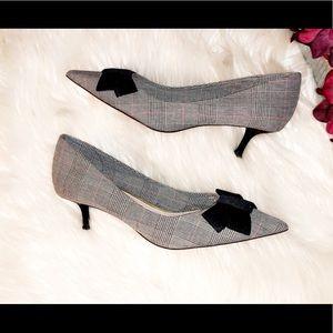 ZARA Plaid Bow Heel
